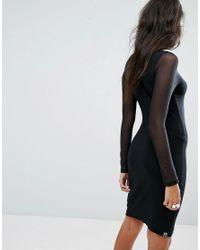 PUMA | Black Exclusive To Asos Bodycon Mesh Dress | Lyst
