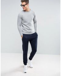 Jack & Jones - Gray Quilted Sweat for Men - Lyst