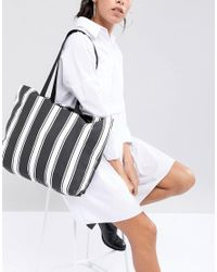 ASOS - Multicolor Sustainable Cotton Double Handle Summer Shopper - Lyst