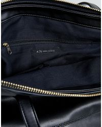 Armani Exchange - Black Square Tote Bag - Lyst