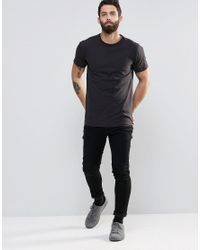 Only & Sons | Gray Crew Neck T-shirt for Men | Lyst