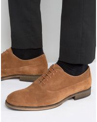 SELECTED - Brown Selected Leather Oxford Shoes for Men - Lyst