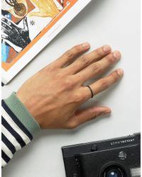 ASOS - Ditsy Ring In Matte Black for Men - Lyst