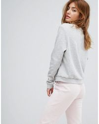 MINKPINK - Gray Bowl Me Over Night Lounge Sweater - Lyst