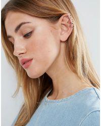 ASOS - Metallic Jewel Cage Triangle Ear Cuff - Lyst