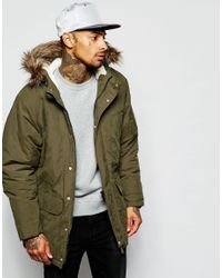 Supremebeing Upremebeing Parka Jacket With Faux Fur Hood in Green ...