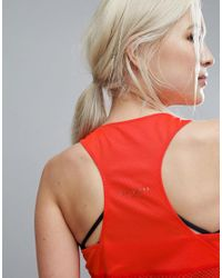 Ted Baker - Red Fit To A T Mesh Tank Top In Tropical Oasis Print - Lyst