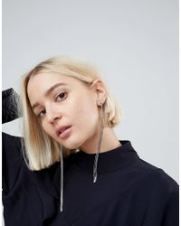 ASOS - Metallic Limited Edition Snake Chain Strand Earrings - Lyst