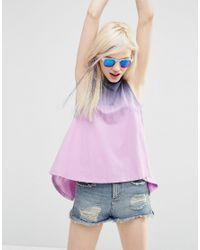ASOS - Multicolor T-shirt In Tie Dye With Split Back - Lyst