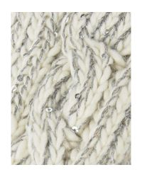Alice Hannah - Natural Sparkle Cable Mittens - Lyst