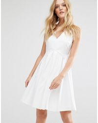 Y.A.S - White Unia Dress With Pleat Skirt - Lyst