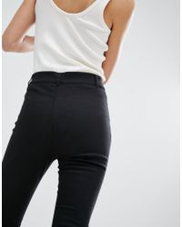 Monki - Black Flared Trousers - Lyst