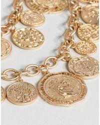 ALDO - Metallic Multirow Coin Necklace - Lyst