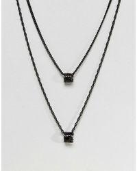 Mister - Necklace In Black for Men - Lyst