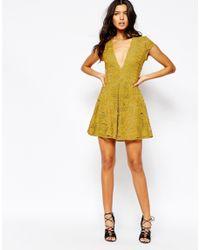 For Love & Lemons - Orange Sienna Mini Dress - Lyst