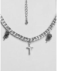 ASOS - Metallic Mystical Charm Choker Body Chain - Lyst