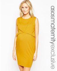 ASOS | Yellow Maternity Nursing Tulip Dress | Lyst