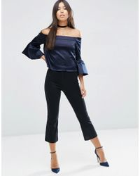 ASOS   Black Stretch Kick Flare Trousers   Lyst