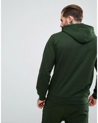 Nicce London Green Hoodie With Signature Logo for men
