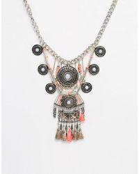 New Look - Pink Havana Thread Necklace - Lyst