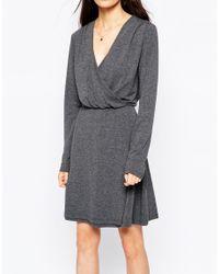 SELECTED - Gray Milla Longsleeve Dress - Lyst