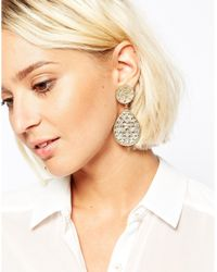 ALDO - Metallic Ldo Gold Brerrama Earrings - Lyst