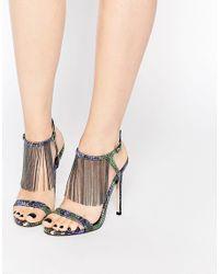 ASOS | Multicolor Half Moon Heeled Sandals | Lyst