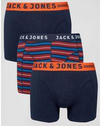 Jack & Jones - Blue Trunks 3 Pack - Multi for Men - Lyst