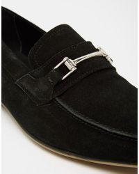 ASOS | Loafers In Black Suede With Snaffle | Lyst