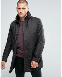 G-Star RAW | Black Garber Trench Coat for Men | Lyst