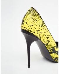 ASOS - Black Pocket Pointed Heels - Lyst