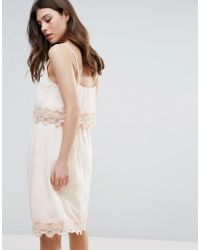 B.Young - Pink Summer Dress With Lace Insert - Lyst