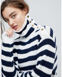 Pepe Jeans - Blue Striped Cotton Jumper/sweater - Lyst