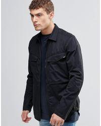 G-Star RAW | Black Vodan Zip Overshirt Jacket for Men | Lyst