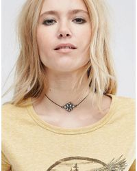 ASOS | Black Jewel Flower Choker Necklace | Lyst