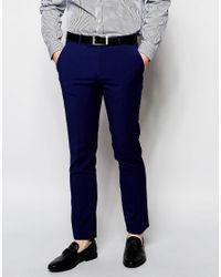 Ben Sherman | Blue Plain Suit Trousers for Men | Lyst