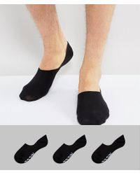 Nicce London - White Nicce 3 Pack Invisible Socks In Black for Men - Lyst