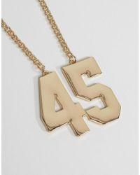 ASOS - Metallic 45 Necklace - Lyst