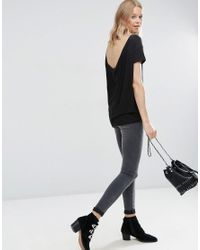 ASOS - Black T-shirt With Scoop Back 2 Pack Save 15% - Lyst