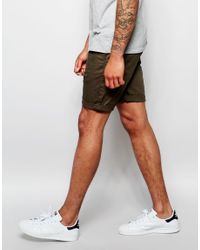 ASOS - Multicolor Slim Chino Shorts In Forest Green for Men - Lyst