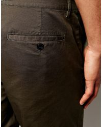 ASOS DESIGN - Multicolor Slim Chino Shorts In Dark Khaki for Men - Lyst