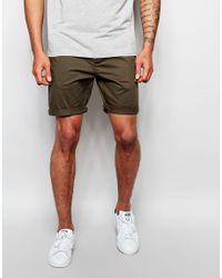 ASOS - Multicolor Slim Chino Shorts In Dark Khaki for Men - Lyst