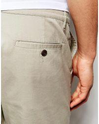 ASOS - Slim Chino Shorts In Light Green for Men - Lyst
