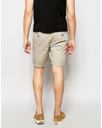 ASOS - Green Skinny Chino Shorts In Light Stone for Men - Lyst