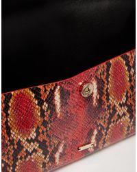 Nali - Multicolor Faux Snake Print Envelope Clutch Bag - Lyst