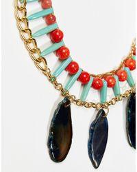 Nali - Metallic Turquoise Bead Pendant Necklace - Lyst