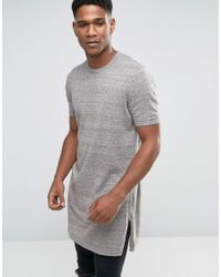 ASOS | Green Extreme Longline Knitted T-shirt With Side Splits for Men | Lyst