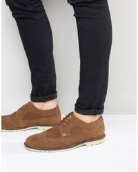 Original Penguin | Brown Brogues In Tan Suede for Men | Lyst