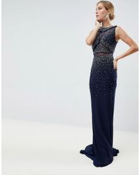 23e5ece603 Jovani Fade Out Maxi Dress in Black - Lyst