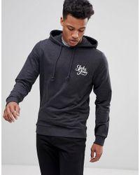 Jack & Jones - Black Originals Hoodie With Chest Branding for Men - Lyst